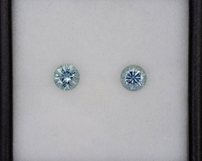 Excellent Blue Green Sapphire Gemstone Match Set from Montana 0.92 tcw.
