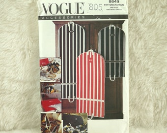 Bags Pattern, Vogue 8649 Crafts, Travel Accessories, Gown Dress Suit, Laundry, Shoes, Lingerie, Jewelry, Cosmetic, 1993 Uncut