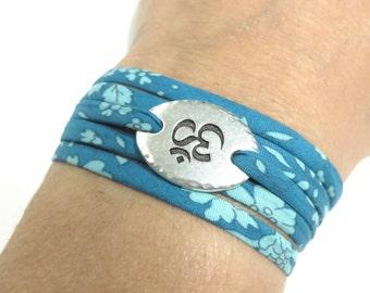 Namaste Wrap Bracelet Yoga Jewelry Om Bracelet Ohm Blue Wrist Wrap Bracelet Boho Cord Bracelet Spiritual Jewelry Christmas Stocking Stuffer