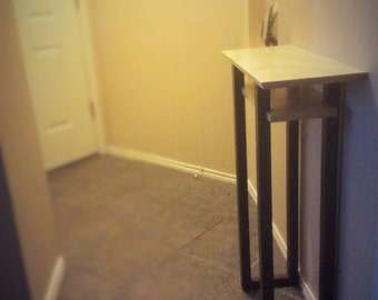 Tall Narrow Table For Small Spaces: Wood Entry Table, Small Hall Table, Tall