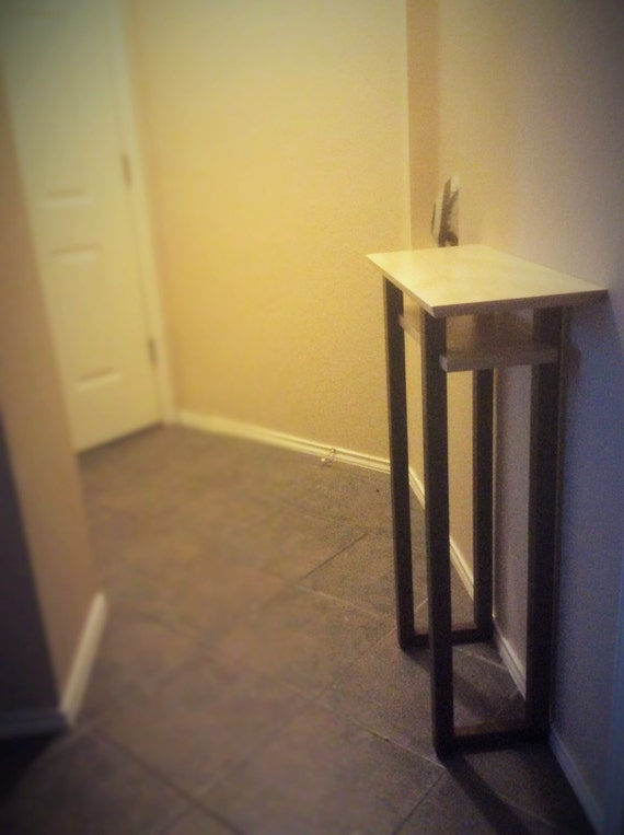 Foyer Table For Small Spaces : Tall narrow table for small spaces wood entry