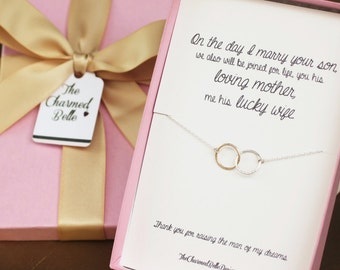 Future Mother-in-Law, Gift Boxed Pendant, Mother of the groom, Mother in law, wedding, gift, linked rings
