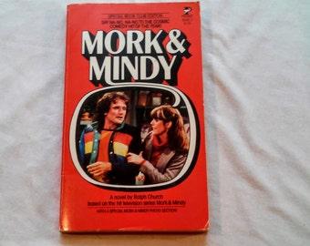 "Vintage 70's Pop Culture Paperback, ""Mork & Mindy"" written by Ralph Church, 1979."