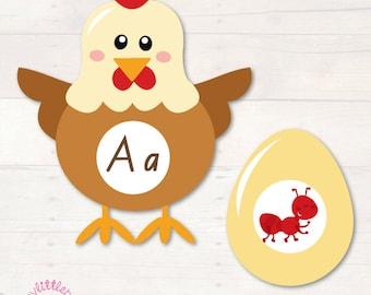 Chicken &  Egg Beginning Sounds Match  AUTOMATIC DOWNLOAD