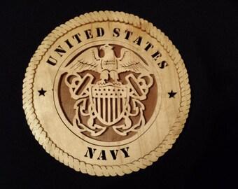 US Navy Plate (Handmade)