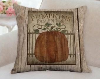 Thanksgiving or Halloween Pumpkin Patch Designer Pillow