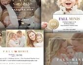 Fall Mini Session Marketing Templates - 4 Piece Bundle - Digital Marketing Templates - FALL MODERN MINIS - 1566