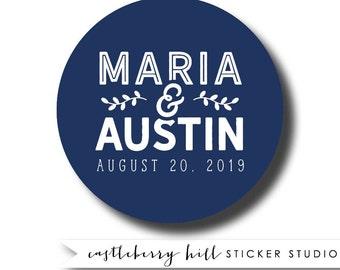Wedding sticker for favor, mason Jar label, custom favor label, custom favor sticker, candy jar label, mason jar sticker, wedding logo label