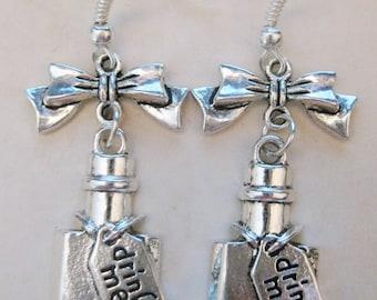 Alice in Wonderland Drink Me Earrings You Choose Design! C339