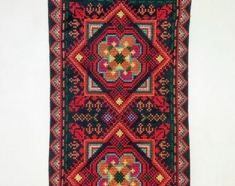 Palestinian Bedouin embroidered wall hanging