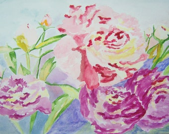 Just Flowers, Original Watercolor Painting