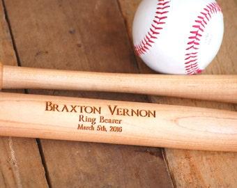 Personalized Bat, Wedding Party Favors, Custom Engraved Bat, Junior Groomsmen Bat, Ring Bearer Bat, Junior Groomsmen Gift, Ring Bearer Gift