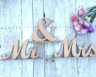 Mr and Mrs Sign, Wedding Sweetheart Table, Mr and Mrs Table Sign, Rose Gold Pink, Wedding Sign, Mr & Mrs Letters XL, Bride Groom Table Decor