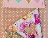Heart Bunting Pack: Floral, Green Dots, Gold and Pink