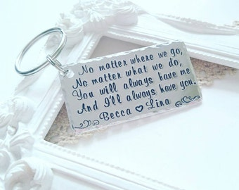 Personalised Sister gift, Long distance friendship gift, Best friends gift, Gift for friends, Handstamped gifts for best friends