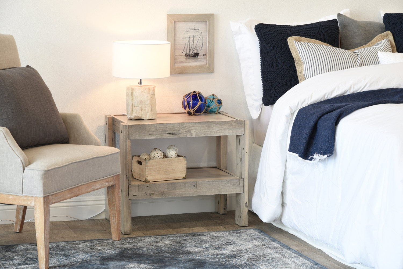 Natural Wood Pine Nightstand