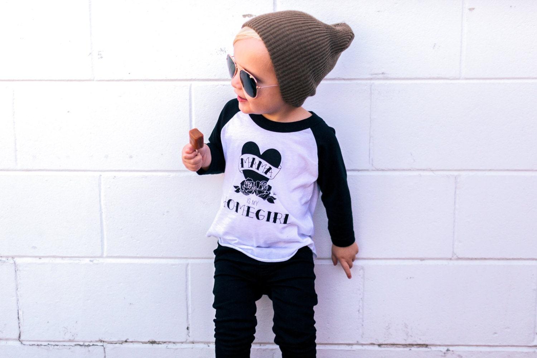 Mama is my Homegirl trendy kids tattoo shirts hipster baby - photo#8