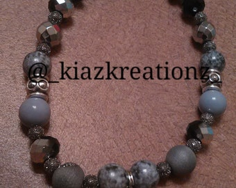 Bray & Black bracelet w/Eye Charm