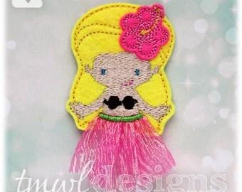 """Hula Girl Top Feltie Digital Design File - 1.75"""""""