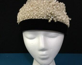Vintage 1960s Christine Originals Sculpted Crown Toque