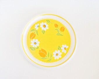MIKASA Yellow Brushed Denims Round Serving Platter
