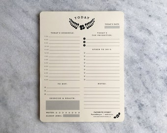 Daily Planner Notepad | To Do List, Letter Size