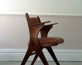 Vintage European Sawbuck Desk Chair c.1955