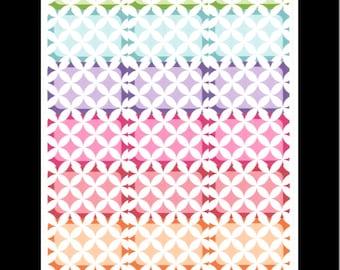 Interlocking Circles Half Boxes- Rainbow || Stickers for Life Planner