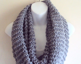 Knit Tube Scarf  Knit Chunky Cowl Capelet Women Men Winter Fashion Accessories Gift Ideas