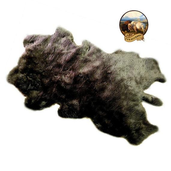 Deer Skin Rug Shag Bear Skin Pelt Area Rug Premium Faux
