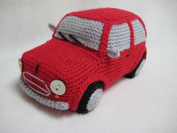amigurumi classic mini cooper inspired car crochet pattern pdf toy home decor from millionbells. Black Bedroom Furniture Sets. Home Design Ideas
