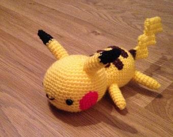 Crocheted Pikachu from Pokemon Digital pattern