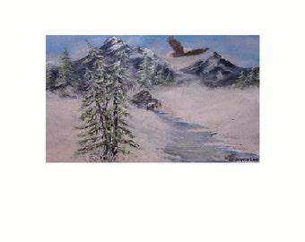 16  X 20     Giclee Print  Frozen Creek by  Joyce Lee