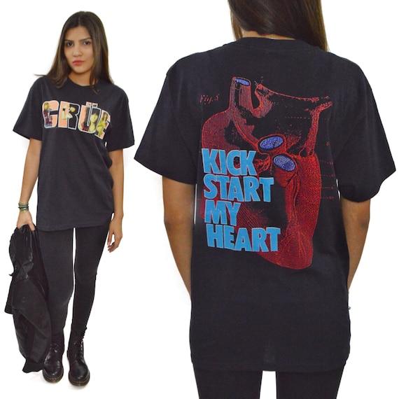 Vintage 80s Mötley Crüe Kickstart My Heart T Shirt Sz L