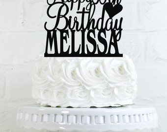 Happy 35th Birthday Cake Topper Personalized with Name and Age