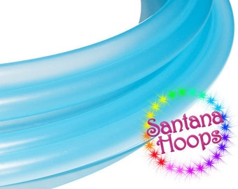 5/8 Mini Twins Translucent Blue Polypro Hula Hoop Minis
