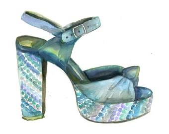 Sequin Platform High Heels