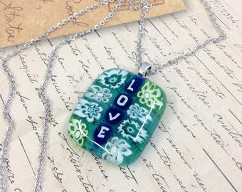 Love Fused Glass Necklaces - Handmade Glass Art
