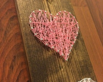 Heart String Art - Valentine's Day String Art