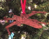 Star Wars X-Wing Fighter Wooden Ornament