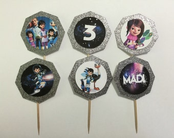 24 Miles from Tomorrowland Cupcake Toppers (birthday cupcake toppers)