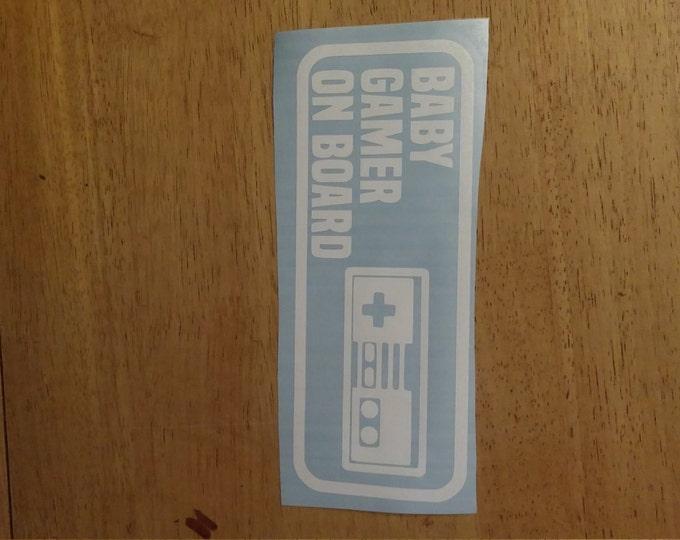 Baby Gamer On Board Vinyl Decal