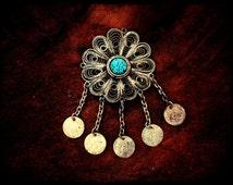 Moroccan Filigree Coin Ornament