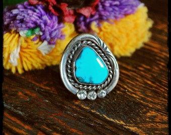 Navajo Turquoise Ring - Size 5