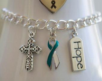 Cervical Cancer Awareness Charm Bracelet