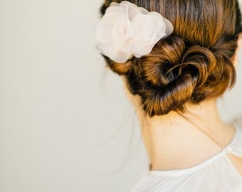 "Wedding Hair Flower, bridal headpiece - ""Carla"""