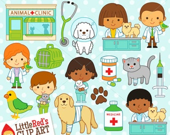 Vet Veterinarian Clipart and Lineart - personal and commercial use