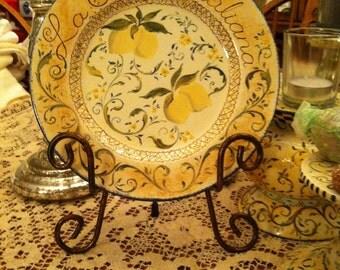 La Cucina Italiana Hand Painted Ceramic Plate