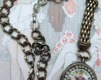Antique Pocket Watch Pendant Necklace