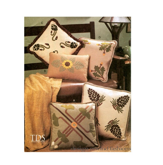 MISSION PILLOW PATTERNS Arts & Crafts Style Felt Pillow Covers